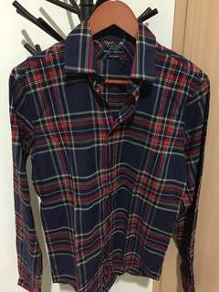ZARA KEMEJA FLANEL SLIM FIT UK S #MauSupreme