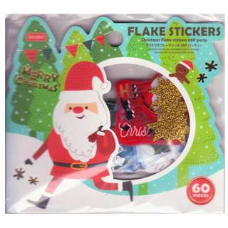 Daiso Flake Stickers - Merry Christmas (Design 1)