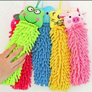 Hand towel pembersih tangan microfiber karakter lucu