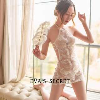 夏娃的祕密| 本月新品|露背削肩性感睡衣 | 刺繡與薄紗互相輝映