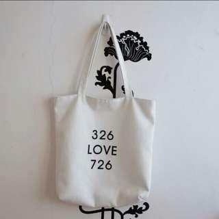 Korean canvas tote bag