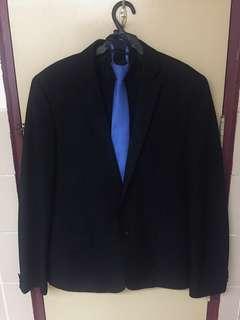 G2 Men's Slim Fit Formal Suit Coat and Tie With pants Medium