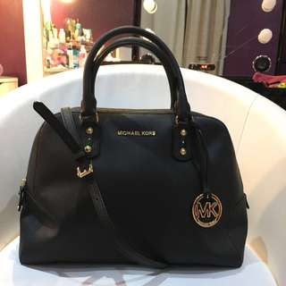 [MICHAEL KORS] MK Jet Set Travel Large Satchel in Black