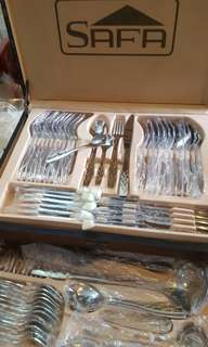 Stainless Steel Cutlery w/ gold lining