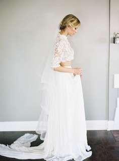 2tier waltz length horsehair edge wedding veil