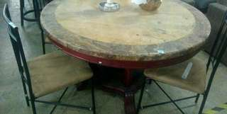 Marble Dining seat with 2 chairs
