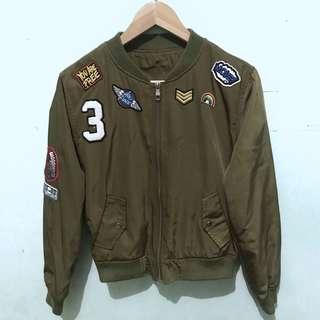Green Bomber Jacket For Girl