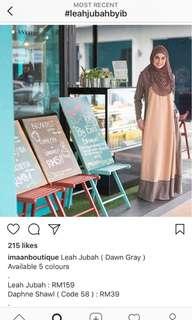 Imaan boutique Leah Jubah