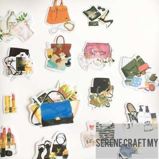 Set of 27pcs Luxury OOTD Sticker Pack