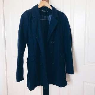Navy Blue Blazer Outerwear