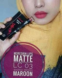 MORESKIN LIP CREAM MATTE  03 (Merah Maroon)
