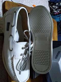 Sebago white shoes full leather size 42