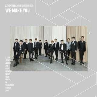 PRE-ORDER SEVENTEEN WE MAKE YOU 1st JAPAN ALBUM