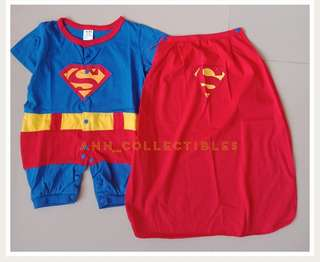 Superman Romper Overall Kids Costume