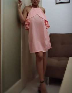 Peach sexy party dress