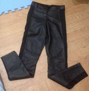 Wwomen Leather cotton pants (branded)