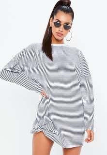 Oversized Striped Long Sleeve Sweater Dress Size 8