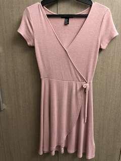 Old Rose V neck dress