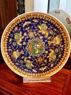Auspicious Cloisonné Display Plate