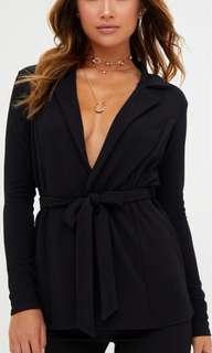 Black Belted Blazer Size 8