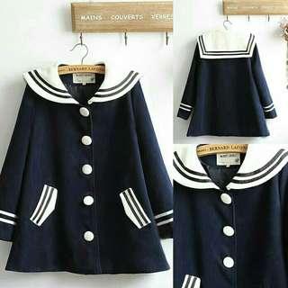 Large Button Coat/Coat/Seifuku/Seragam Jepang