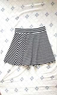H&M Stripe Circle Skirt