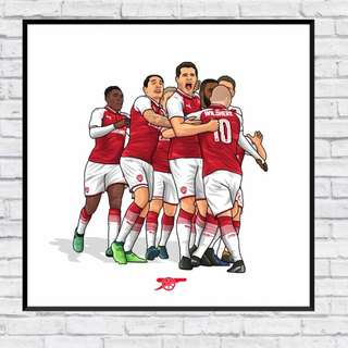 Arsenal Group Celebration Picture in Wall Print