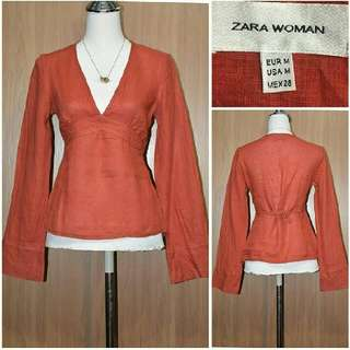 Zara Orange Top