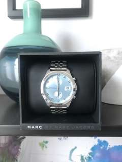 Marc by Marc Jacobs baby blue/silver medium watch