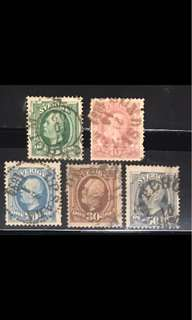Sweden very early King stamps set (slight fault)