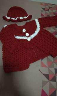 Girls  3 years crochet set