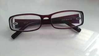 膠框眼鏡 方形鏡框 平光眼鏡 酒紅色