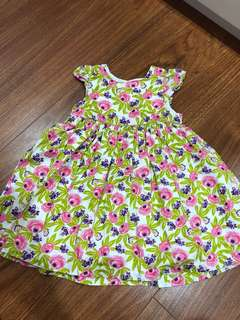 Mothercare green flower dress