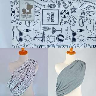 Riversible Pouch Baby Sling - Summer Time