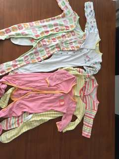 Sleeping suits size 3-6 and 6-9 months