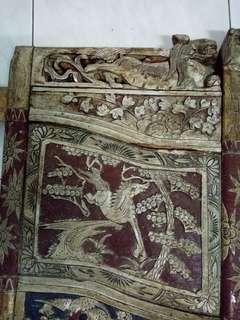 Old Wood Carved Horse, Foodog Panel