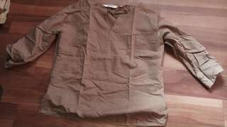 Brown blouse large