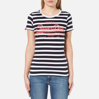Superdry Striped Vintage Logo Shirt