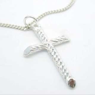925 silver cross pendant necklace / 925純銀十字架頸鏈