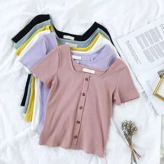 [PO] Averlyn Button Down Knit Top