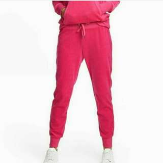 DIVIDED BY H&M VELOUR JOGGER PANTS PINK