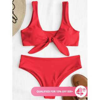 RED SWIMSUIT BIKINI SET 🧡 BRAND NEW WITH TAGS 🧡