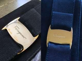 vintage Ferragamo LOGO 鍍金 24k黃金 滿意才收費 質量保證