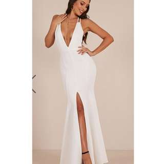 White Maxi Strappy Backless Dress