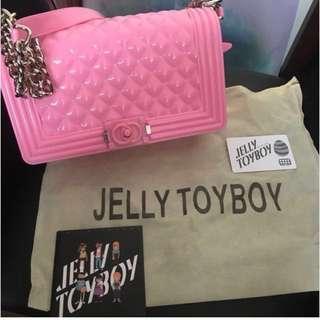 Jelly toy boy 全新真品大size粉紅色同白色連保證卡塵袋