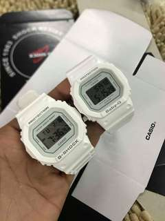 Gshock DW5600 Couple-All White