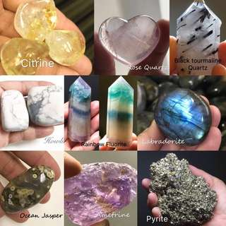 Natural crystals, rocks & gems