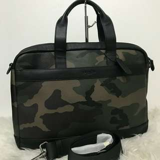 Coach Hamilton Briefcase/ Laptop Bag in Camo Print sz 40x30 (with laptop compartment and crossbody strap)