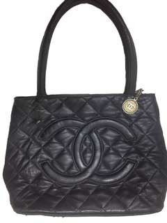 Chanel PST Leather Hand Bag/ Top Handle Bag/ Made in France