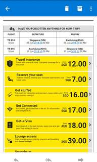 Scoot return air ticket to Kaohsiung